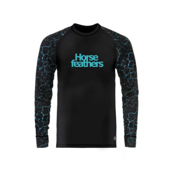 HORSEFEATHERS RILEY EIKI THERMAL SHIRT CRACKED BLACK