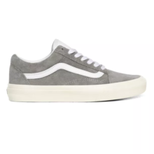 VANS OLD SKOOL SHOES PIG SUEDE DRIZZLE SNOW WHITE