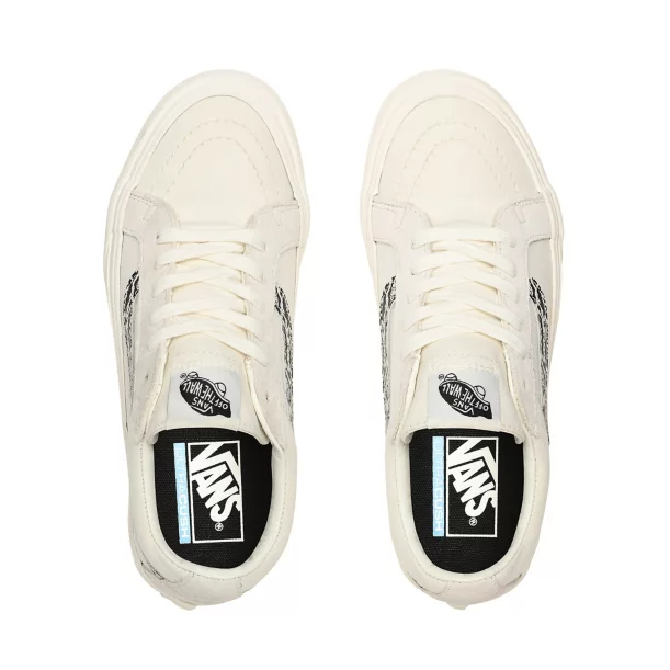 VANS SK8-LOW REISSUE SF SHOES SNAKE MARSHMALLOW