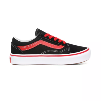 VANS JUNIOR COMFYCUSH OLD SKOOL SHOES POP BLACK RED