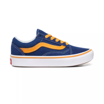 VANS JUNIOR COMFYCUSH OLD SKOOL SHOES POP TRUE BLUE CADMIUM YELLOW