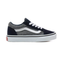 VANS KIDS OLD SKOOL SHOES SUEDE SUITING DRESS BLUES