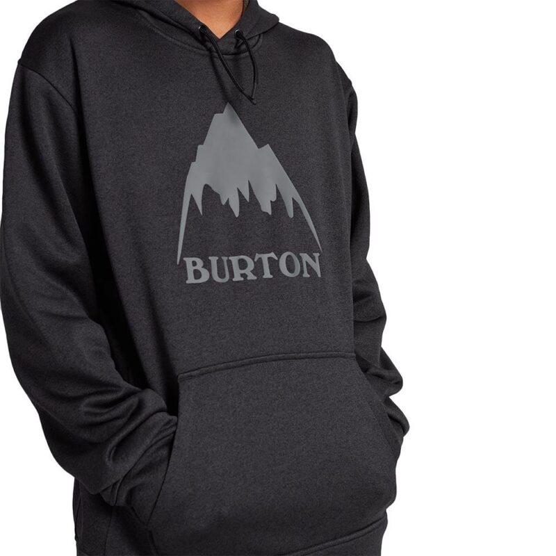 BURTON OAK PO HOODIE BLACK HEATHER