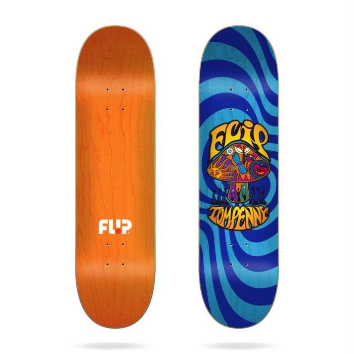 FLIP PENNY LOVESHROOM STAINED BLUE SKATE DECK 8.0