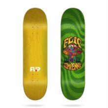 FLIP PENNY LOVESHROOM STAINED GREEN SKATE DECK 8.25