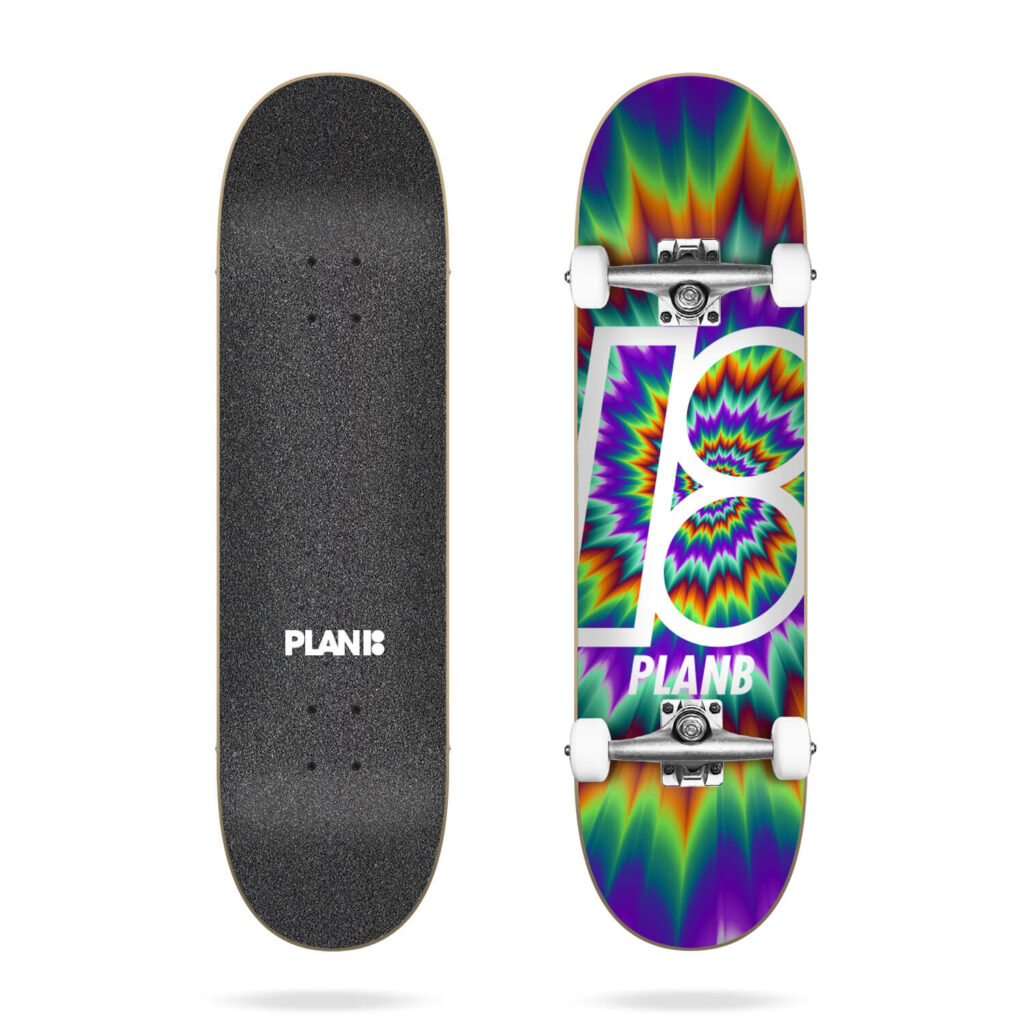 PLAN B TEAM TUNE OUT COMPLETE SKATEBOARD 7.75
