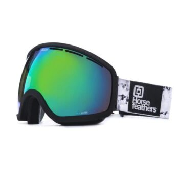 HORSEFEATHERS X MELON OPTIC CHIEF GOGGLES BLACK BIRCH GREEN CHROME