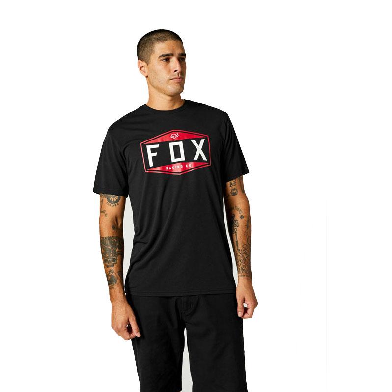 FOX EMBLEM TECH T-SHIRT BLACK