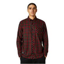 FOX REEVES LS WOVEN BLACK RED