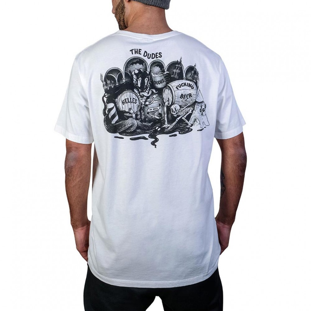 THE DUDES HELLES IN HELL T-SHIRT OFF WHITE