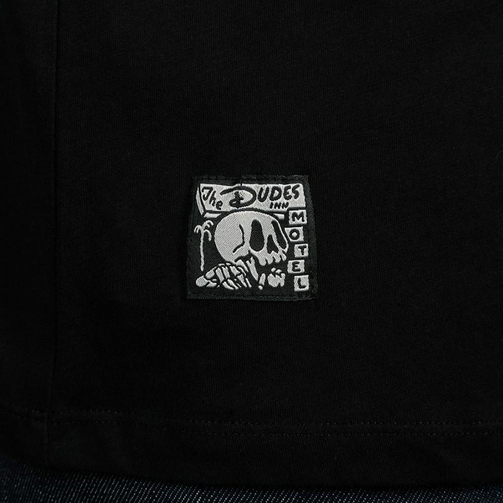 THE DUDES SMOKIN T-SHIRT BLACK