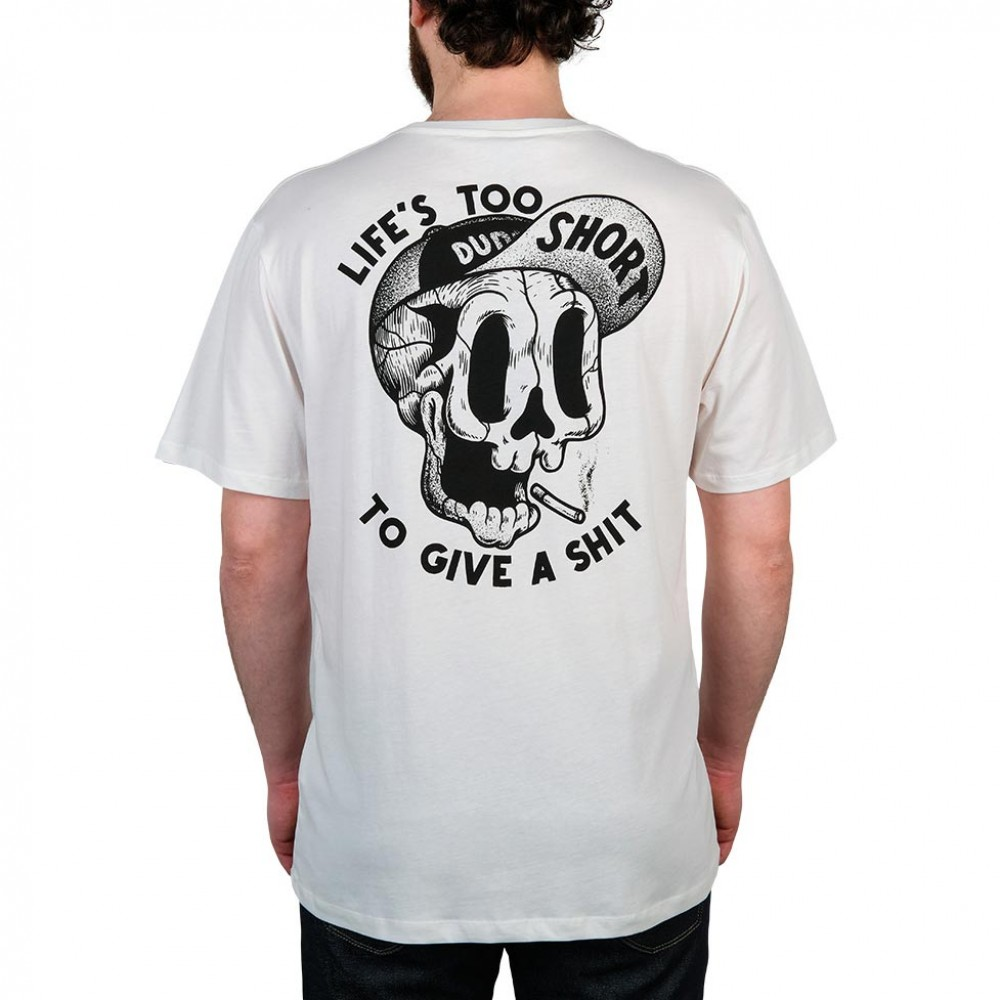 THE DUDES TOO SHORT SMOKES T-SHIRT OFF WHITE