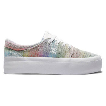 DC TRASE PLATFORM SHOES WHITE RAINBOW