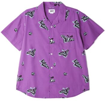 OBEY BUTTERFLY SHIRT PURPLE MULTI