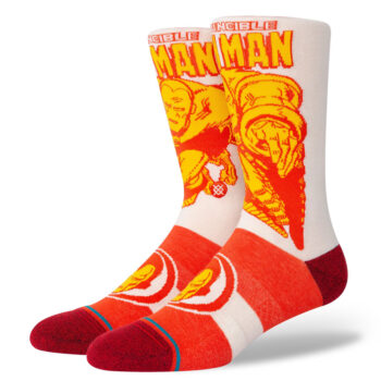 STANCE IRON MAN MARQUEE SOCKS RED