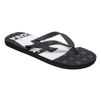 DC SPRAY GRAFFIK SANDALS BLACK GUNMETAL WHITE
