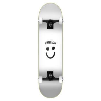 EMILLION SMILE SERIES COMPLETE SKATEBOARD WHITE 8.125