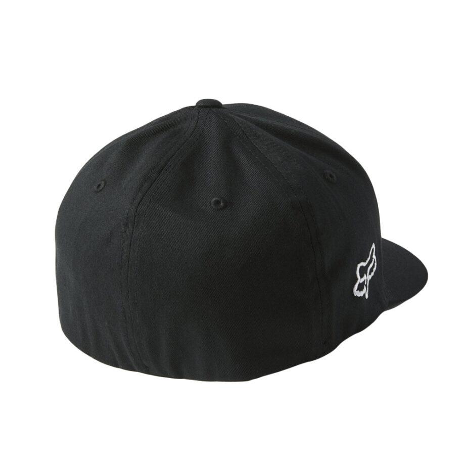 FOX DOWN N DIRTY FLEXFIT HAT BLACK WHITE