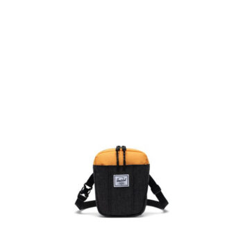 HERSCHEL CRUZ CROSSBODY BLACK CROSSHATCH BLACK BLAZING ORANGE