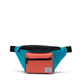 HERSCHEL SEVENTEEN HIP PACK BLUE BIRD BLACK EMBERGLOW