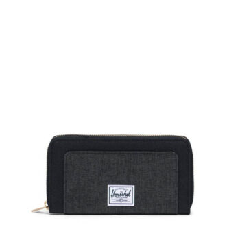 HERSCHEL THOMAS WALLET BLACK BLACK CROSSHATCH