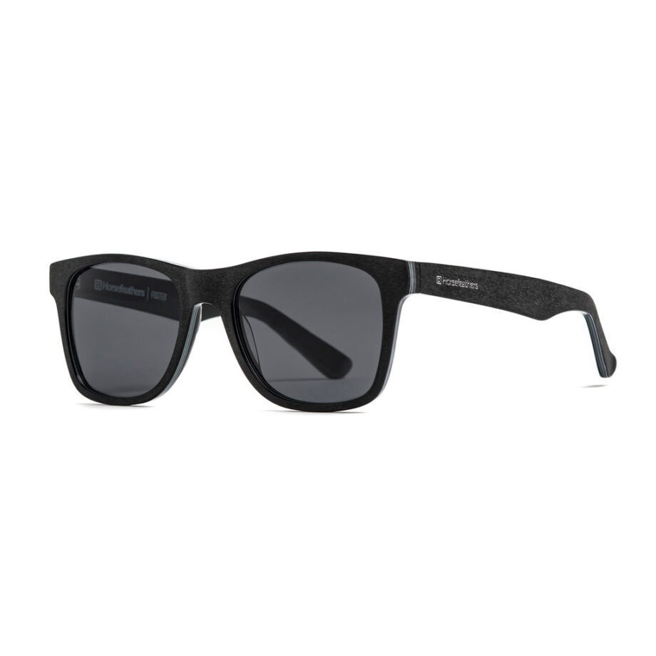HORSEFEATHERS FOSTER SUNGLASSES BRUSHED BLACK GRAY