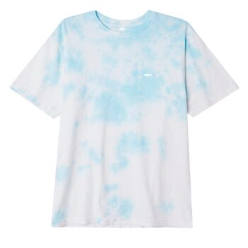 OBEY BOLD ORGANIC SOFT CLOUDY TIE DYE T-SHIRT TRANQUILITY BLUE
