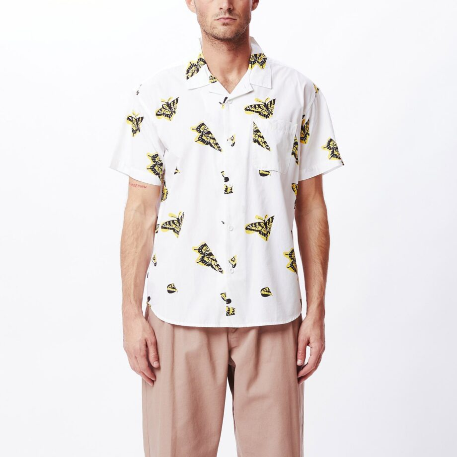 OBEY BUTTERFLY SHIRT WHITE MULTI