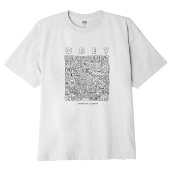 OBEY CREATIVE DISSENT CLASSIC T-SHIRT WHITE