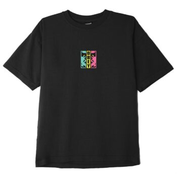 OBEY DIVIDED HEAVYWEIGHT CLASSIC BOX T-SHIRT OFF BLACK