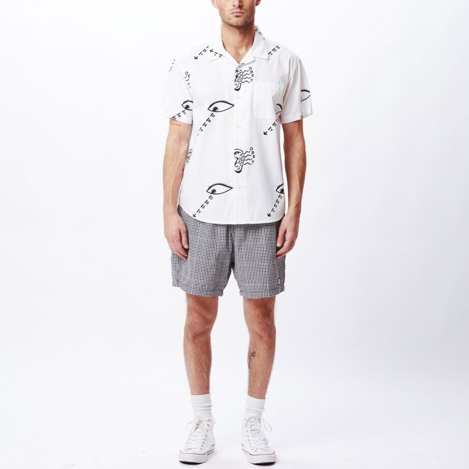 OBEY EYES AND EARS SHIRT WHITE MULTI