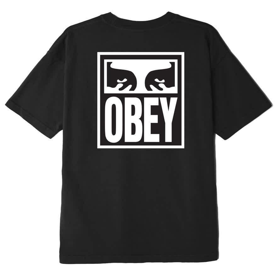 OBEY EYES ICON 2 HEAVYWEIGHT T-SHIRT OFF BLACK