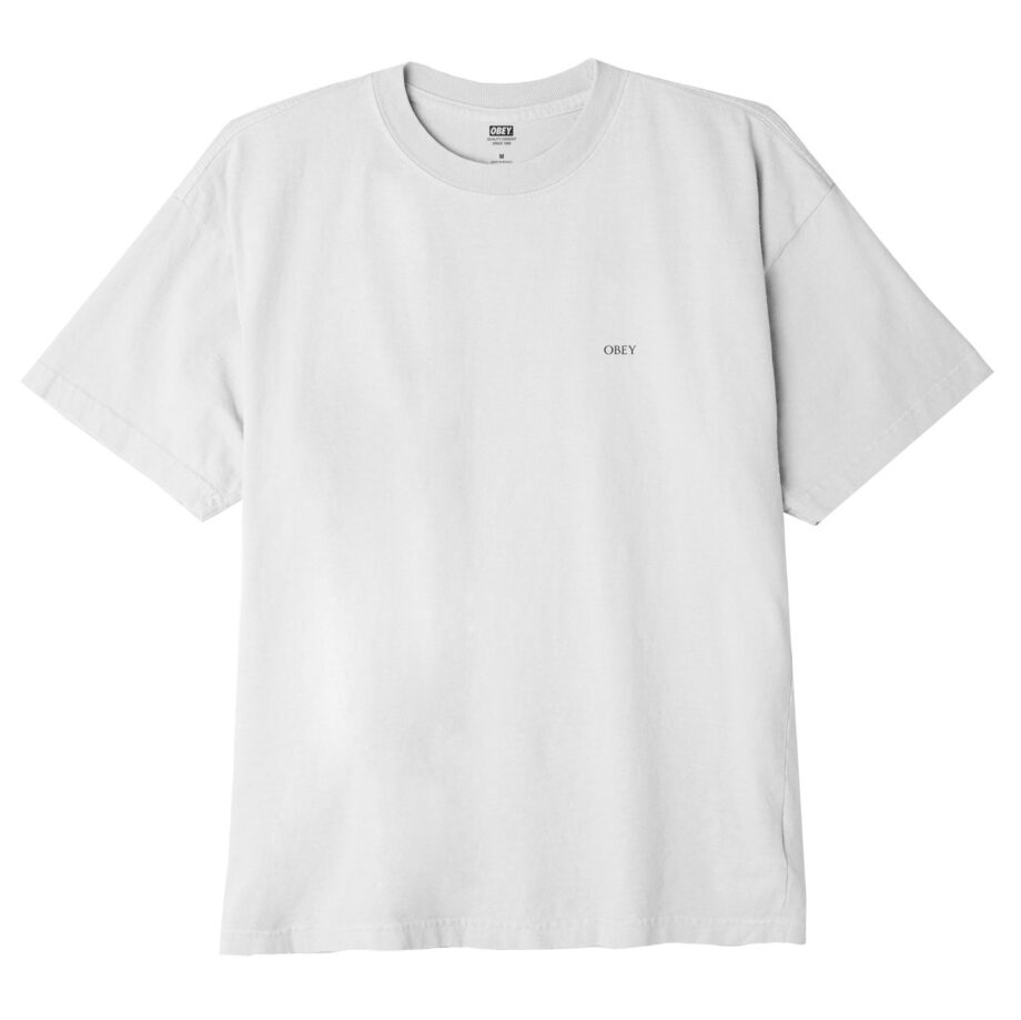 OBEY RIOT COP PEACE SHIELD CLASSIC T-SHIRT WHITE