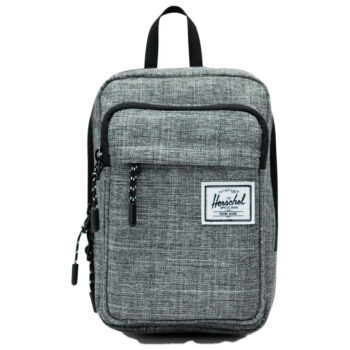 HERSCHEL FORM LARGE CROSSBODY RAVEN CROSSHATCH