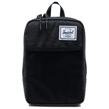 HERSCHEL SINCLAIR LARGE CROSSBODY BLACK CROSSHATCH