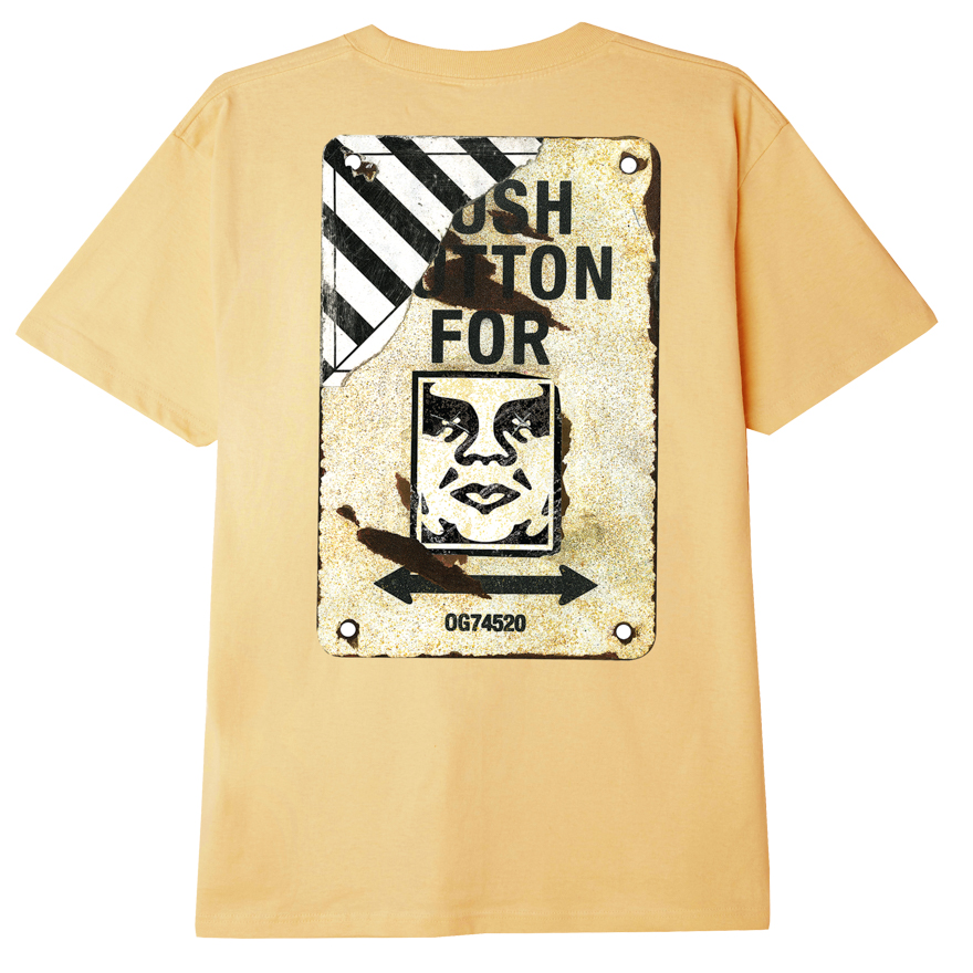 OBEY CROSSWALK SIGN SUSTAINABLE T-SHIRT CROISSANT