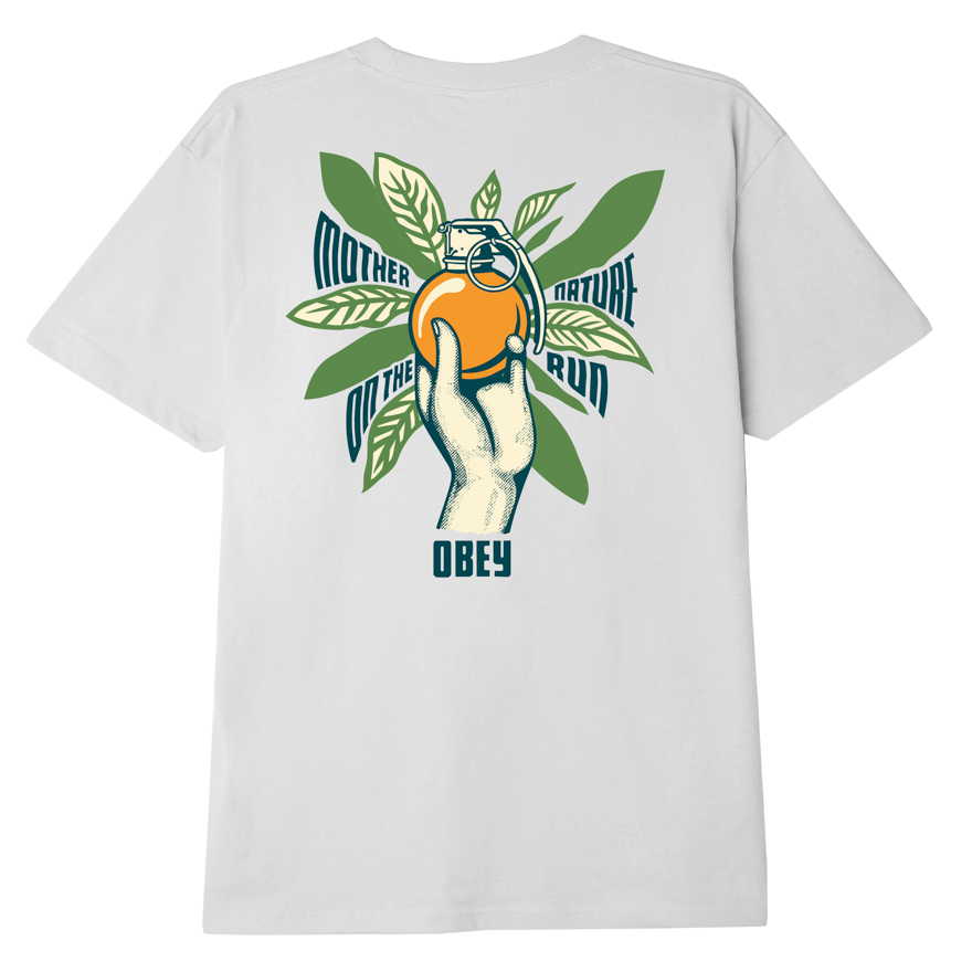 OBEY MOTHER NATURE ON THE RUN SUSTAINABLE T-SHIRT WHITE
