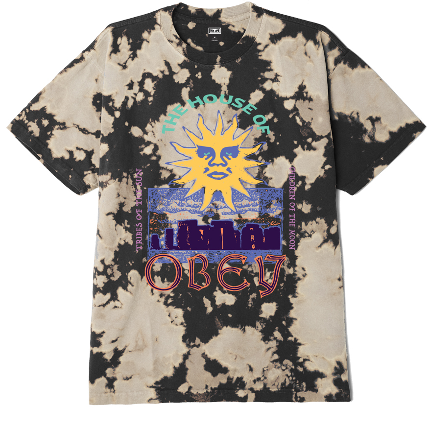 OBEY THE HOUSE OF OBEY HEAVYWEIGHT BLEACH TIE DYE T-SHIRT